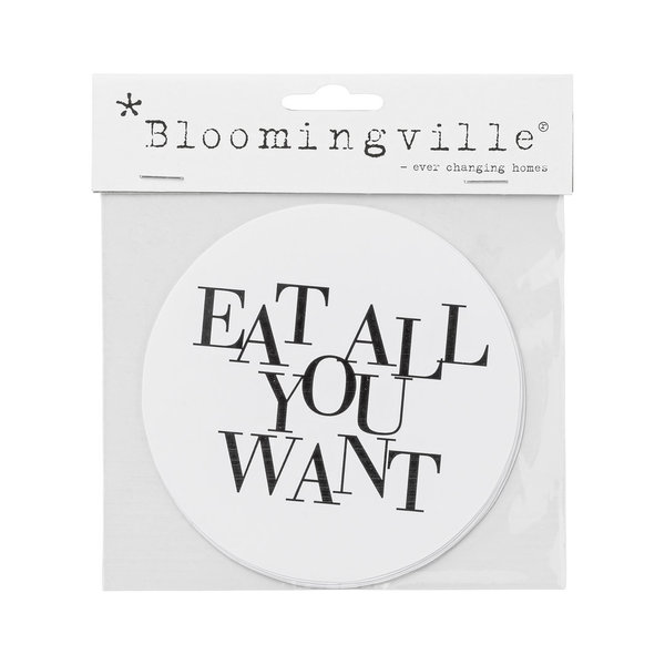 "Wandsticker ""EAT ALL YOU WANT"" - Bloomingville"