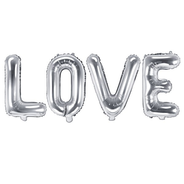 "Folienballon ""LOVE"" silber"